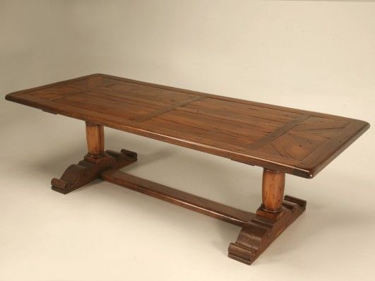 rustic trestle farm table for sale old plank seats 10