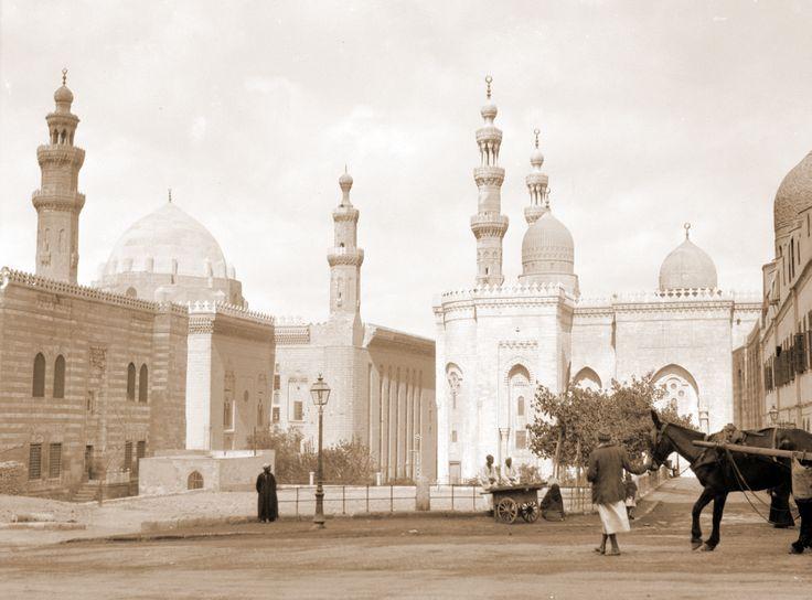 Sultan Hassan Mosque c 1900.  Cairo Egypt