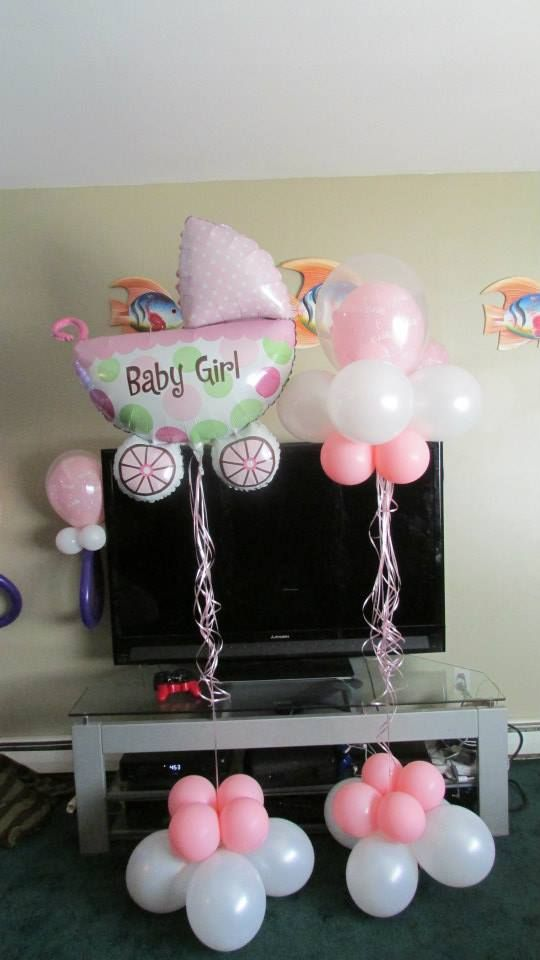 baby shower balloon centerpieces long island ny www.bouncewowny.com