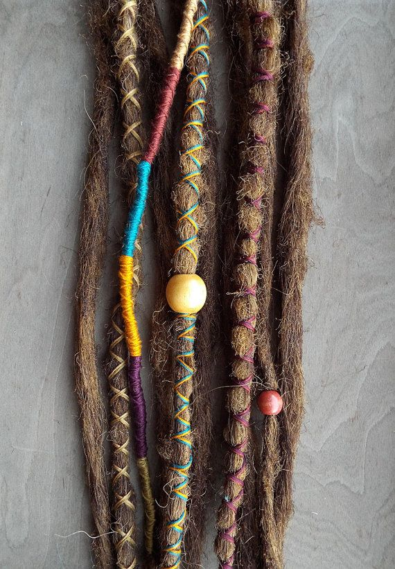 The 25 best dreadlock extensions ideas on pinterest synthetic 10 custom standard clip in or braid in synthetic dreadlock extensions boho dreads hair wraps beads pmusecretfo Image collections