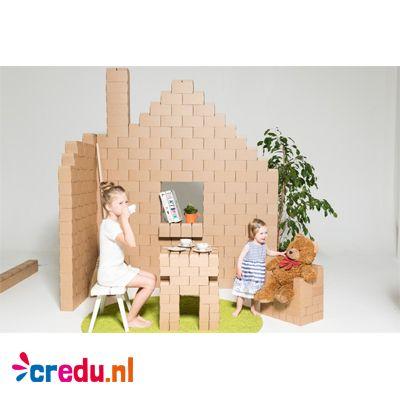 Gigi Bloks (kartonnen bouwblokken) - http://www.credu.nl/product/gigi-bloks-set-96-stuks/
