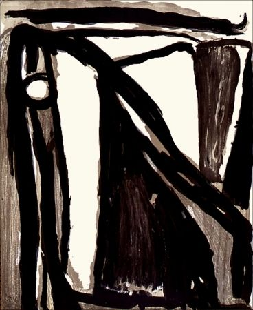 Bram Van velde, Décantement.  Lithographie originale de Bram Van Velde éditée en 1977 à 100 exemplaires sur Arches, signée et numérotée.
