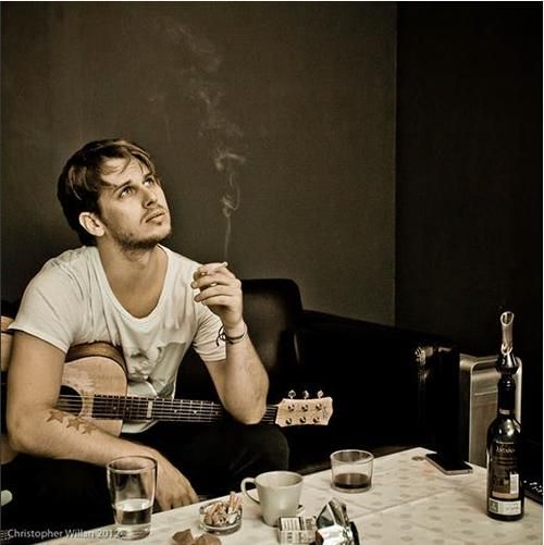 fosterthepeople cigarette, guitar & coffee