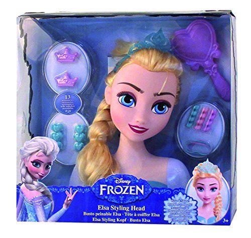 Imc Toys – 016149 – Tête à Coiffer – Reine Des Neiges: Tête à coiffer à l'effigie d'Elsa Inclus : 1 tête à coiffer et 13 accessoires…
