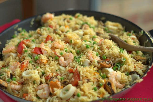 The perfect paella  Extra Easy Syns Free Fish and seafood Rice   slimming world recipes  paella slimming world