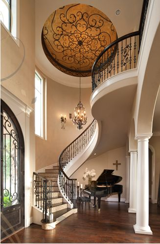 Tuscan Inspired Staircase