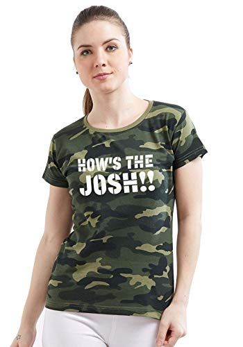 0cc99ca2dca Wear Your Opinion WYO Women s Army Military Camouflage Printed Top T-Shirt  (How s The