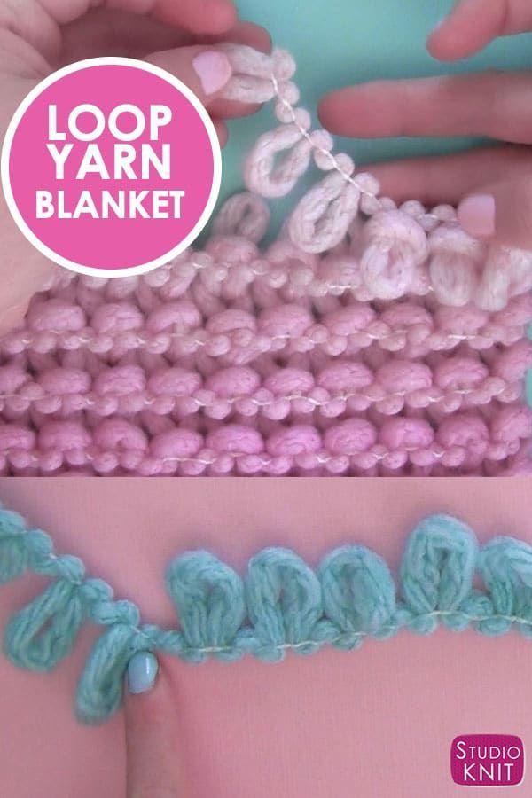 Loop Yarn Knitting For Kids With Knitting Yarn Finger