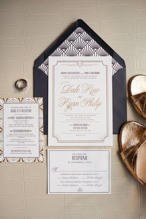 Art Deco Wedding Invitations Ruby The Fox Photo By Whyman Photography
