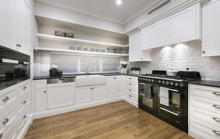 Hamptons style scullery - Oswald Homes