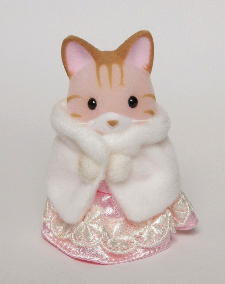 Sylvanian Families Family Specail Edition Pink Dress Cat Kitty RARE