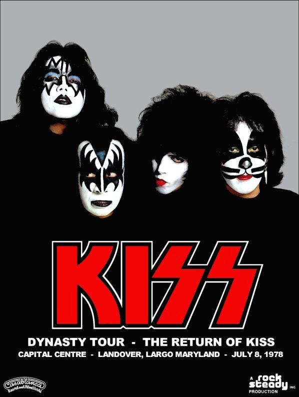 """KISS Collectible Display """"KISS Dynasty Tour - The Return Of KISS"""" Stand-Up Display - Prints And Posters Music Memorabilia Celebrities kiss76"""