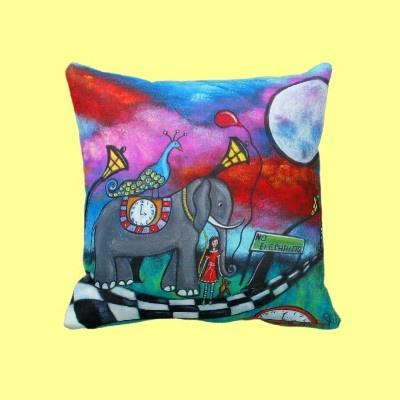 The End Of Innocence Original Fantasy Art Pillow