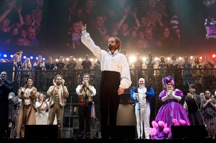 Alfie Boe (Jean Valjean) during the curtain call for the Les Miserables 25th Anniversary Concert at The O2 Arena, London, England on the 3rd October 2010. #theatre #lesmis #musicals  (Credit: Dan Wooller/wooller.com) http://www.lesmis.com/
