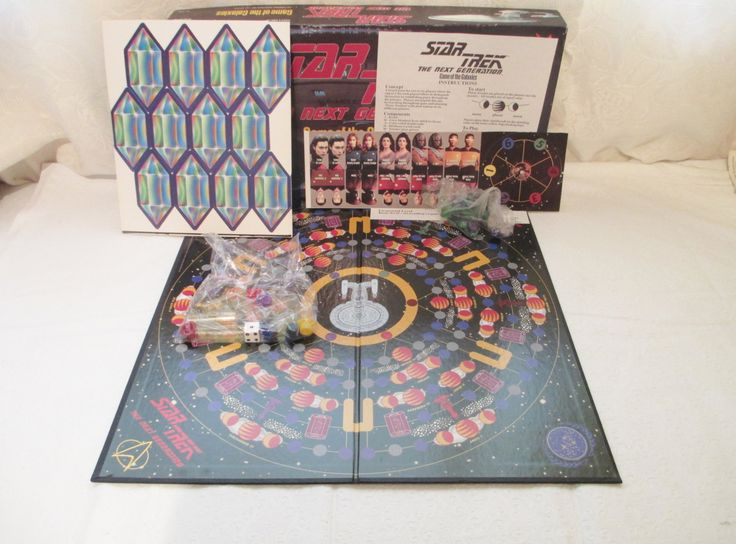 Vintage Star Trek The Next Generation, Game Of The Galaxies, 1993 Star Trek Board Game, Cardinal Games, Unplayed, Unpunched Pieces, by LuckyPennyTrading on Etsy