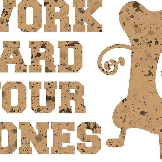 #Work #hard #your #bones #design #tshirt #workout #gym #redbubble