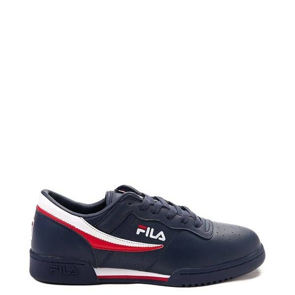 Mens Fila MB Athletic Shoe - White / Navy / Orange en 2020 ...