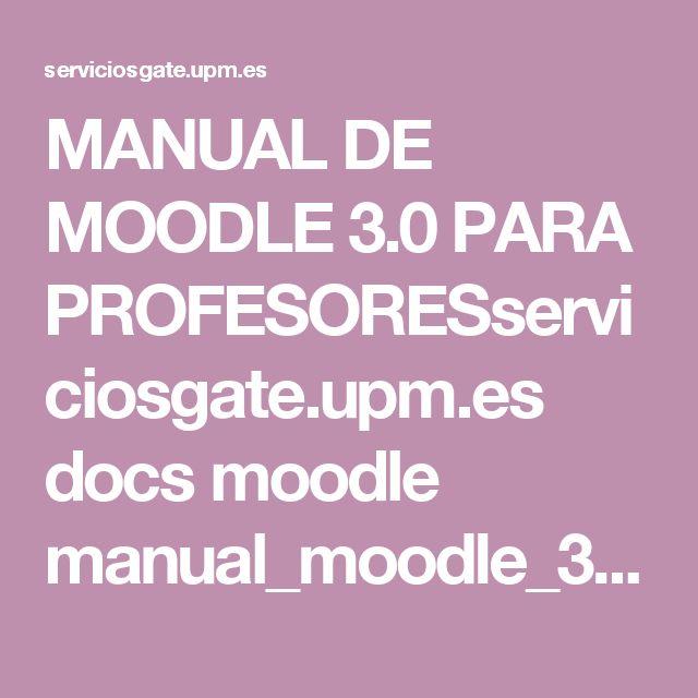 MANUAL DE MOODLE 3.0 PARA PROFESORESserviciosgate.upm.es docs moodle manual_moodle_3.0.pdf