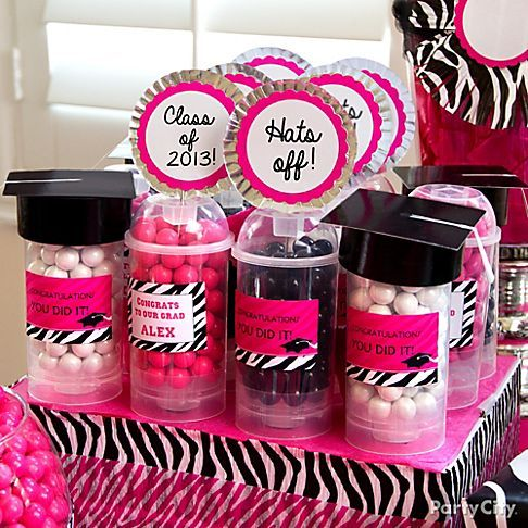 Pink & Zebra Graduation Cupcake and Candy Ideas - Party City