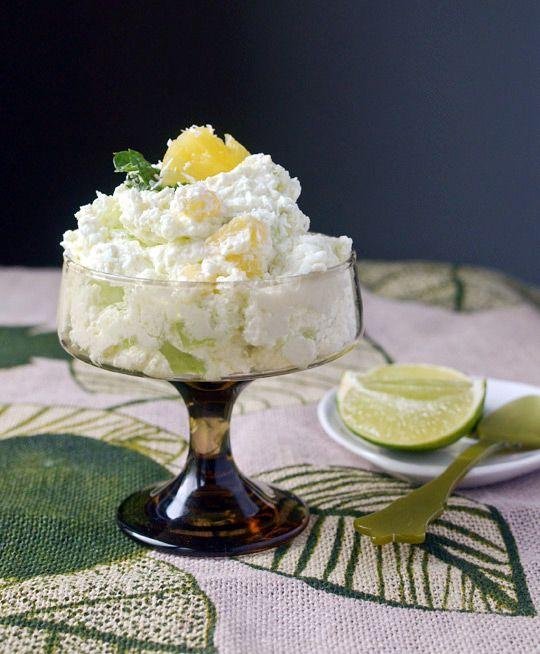 Fresh Lime & Pineapple Fluff: Lime Jell-o Salad for Grown-Ups!