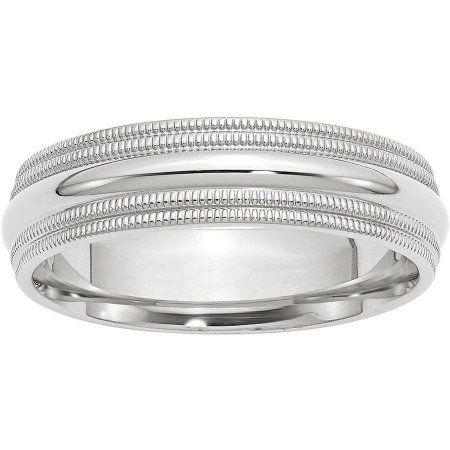 Best Designer Jewelry 14KW 8mm LTW Half Round Band Size 6