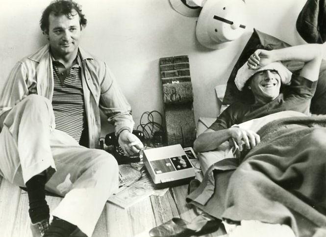 Bill Murray & Dustin Hoffman on the set of 'Tootsie'  1982