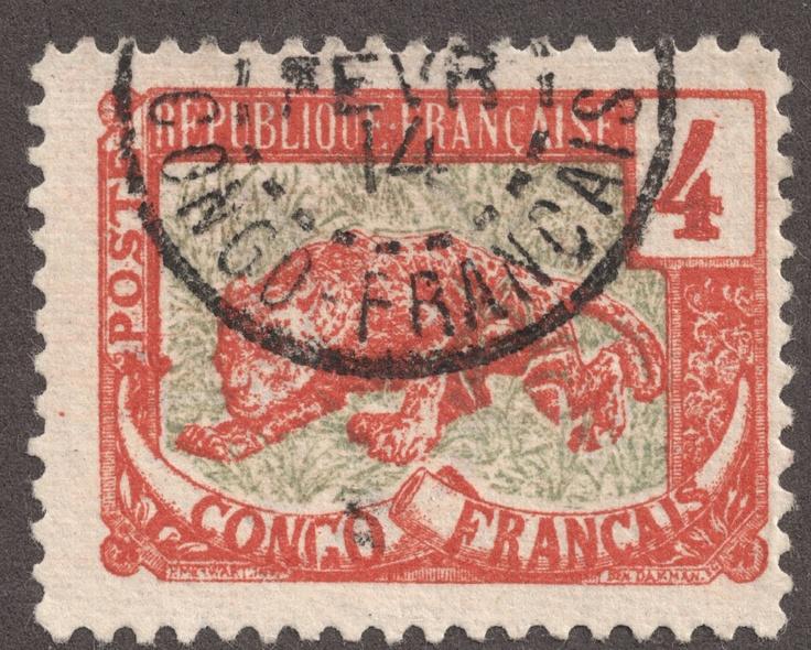 un timbre français à partir du congo