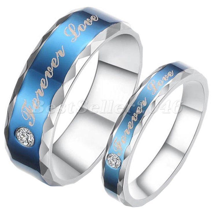 Damen Herren Edelstahl Ring Forever Love Trauringe Eheringe Partnerringe