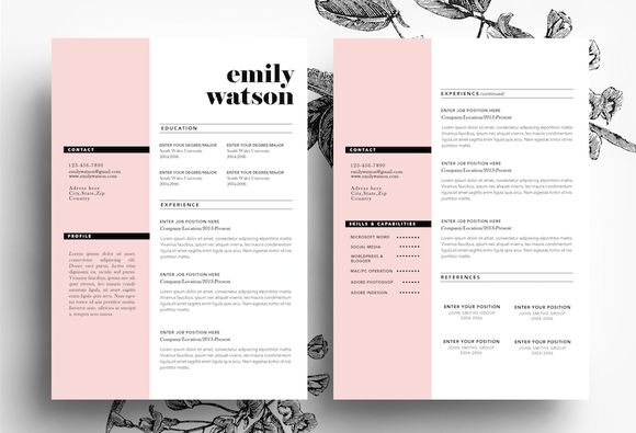 3 page CV template + Business card - Resumes - 1