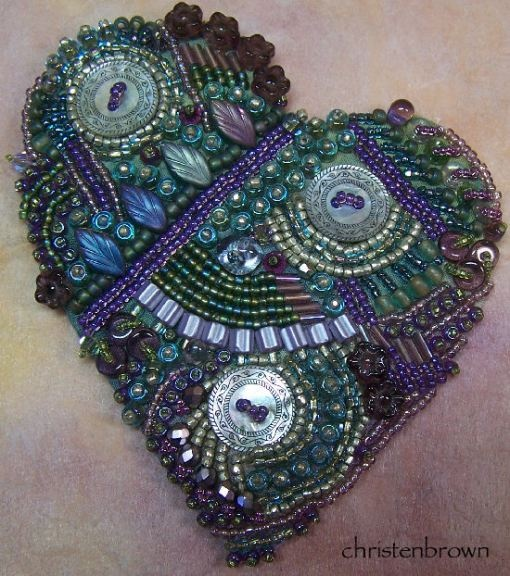 Beadoodlery is a class that I teach using beads and buttons.