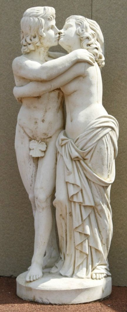 Beautiful Discount Garden Statues   Grand Courting Couple Solid White Stone Cast  Statue, £385.00 (