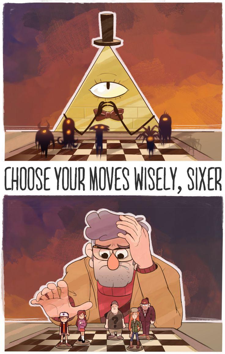 """""""Elige sabiamente tus movimientos, Sixer"""" Gravity Falls, como una serie para niños puede tener una trama tan intensa..."""
