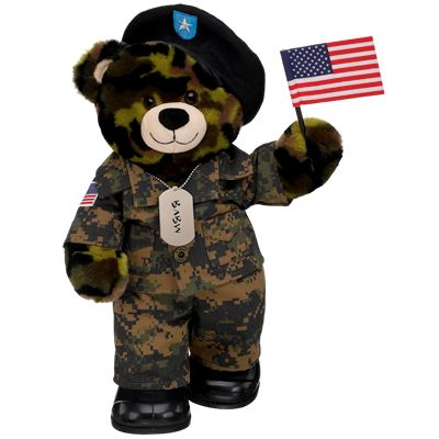 028f33eacc7 American Soldier Camo Bear