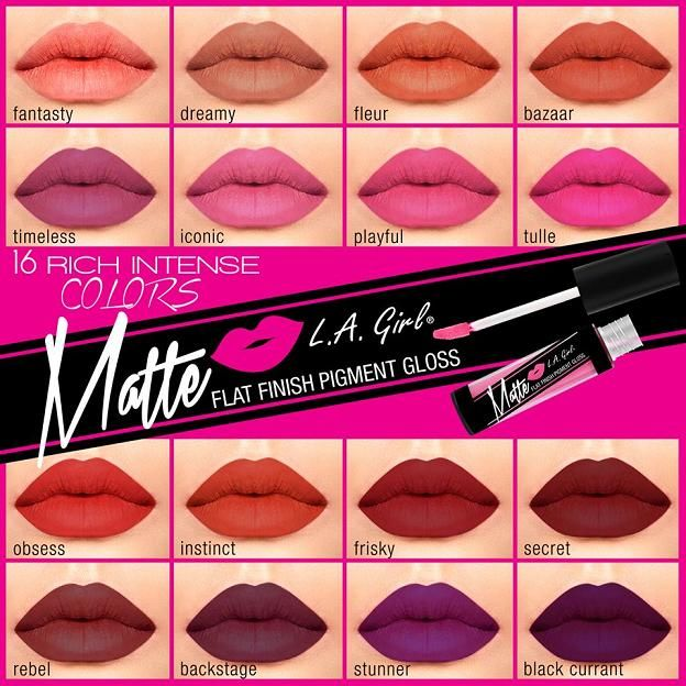 LA Girl Matte Pigment Gloss — Le Pink Chateau // I AM OBSESSED I NEED THESE IN MY LIFE