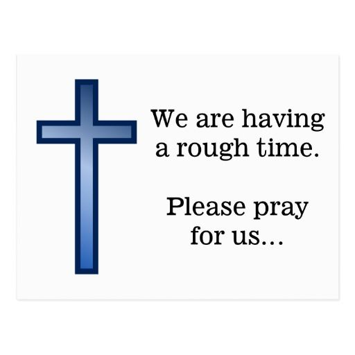 Prayer Request + Blue Gradient Christian Cross