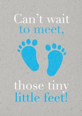 Tiny Feet Blue | New Baby