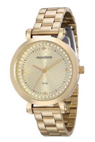 99022LPMVDE1 Relógio Feminino Mondaine Analógico Dourado | Guest Club