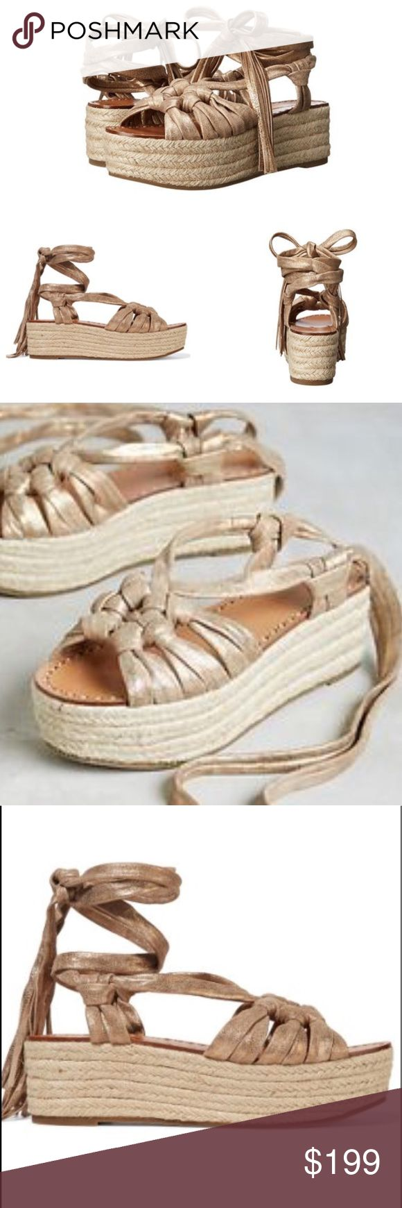 Anthropologie Sigerson Morrison Gold Espadrilles So Chic! Sigerson Morrison summer sandals! Perfectly paired with jeans or dressed up with your favorite Lace Sundress Size 10. New in box never worn Anthropologie Shoes Espadrilles