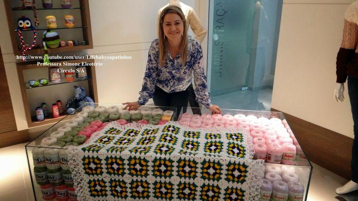 Sapatinhos Para Bebê - Life Baby: Passo a passo Manta Brasil em Crochê