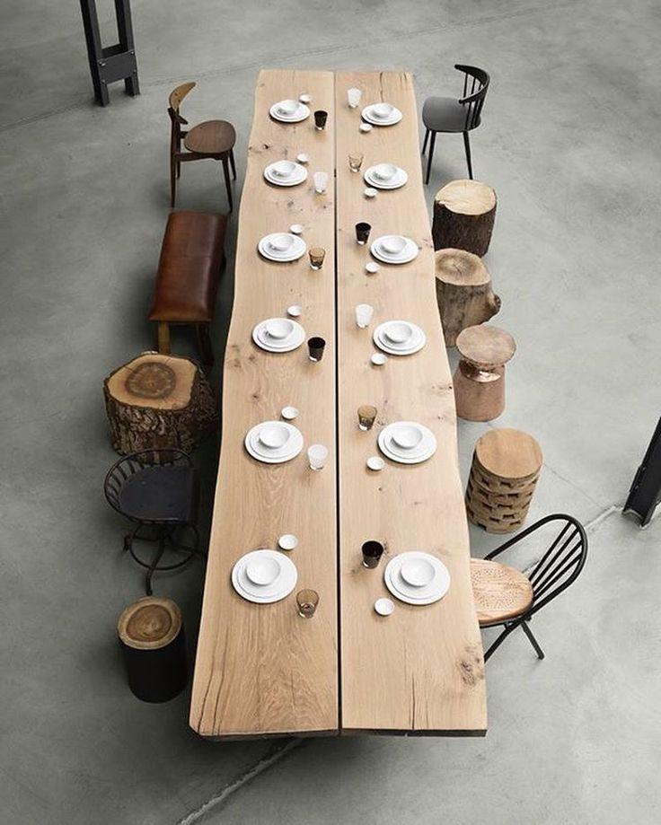 ros großer Favorit für diese schöne Inspiration! Ein riesiger Tisch und ein