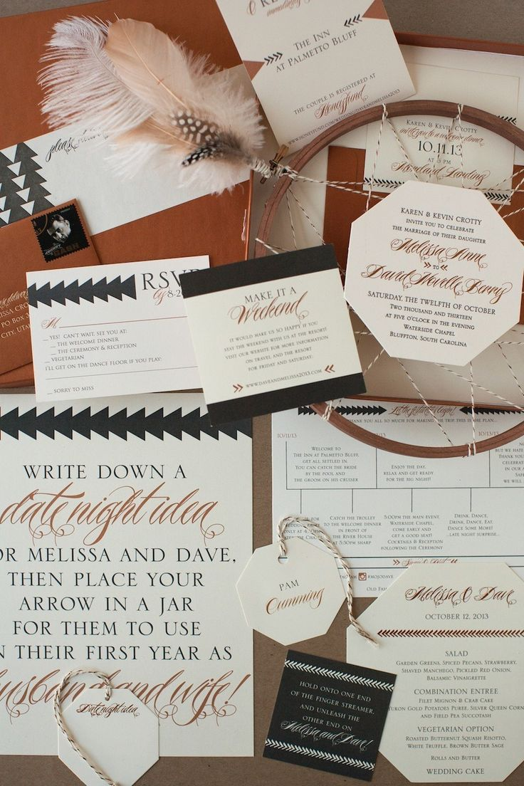 Letterpress Wedding Invitation Suite by Copper Willow | Photography: Diana McGregor | See more on http://www.StyleMePretty.com/little-black-book-blog/2014/01/15/copper-willow-letterpress-wedding-invitations/