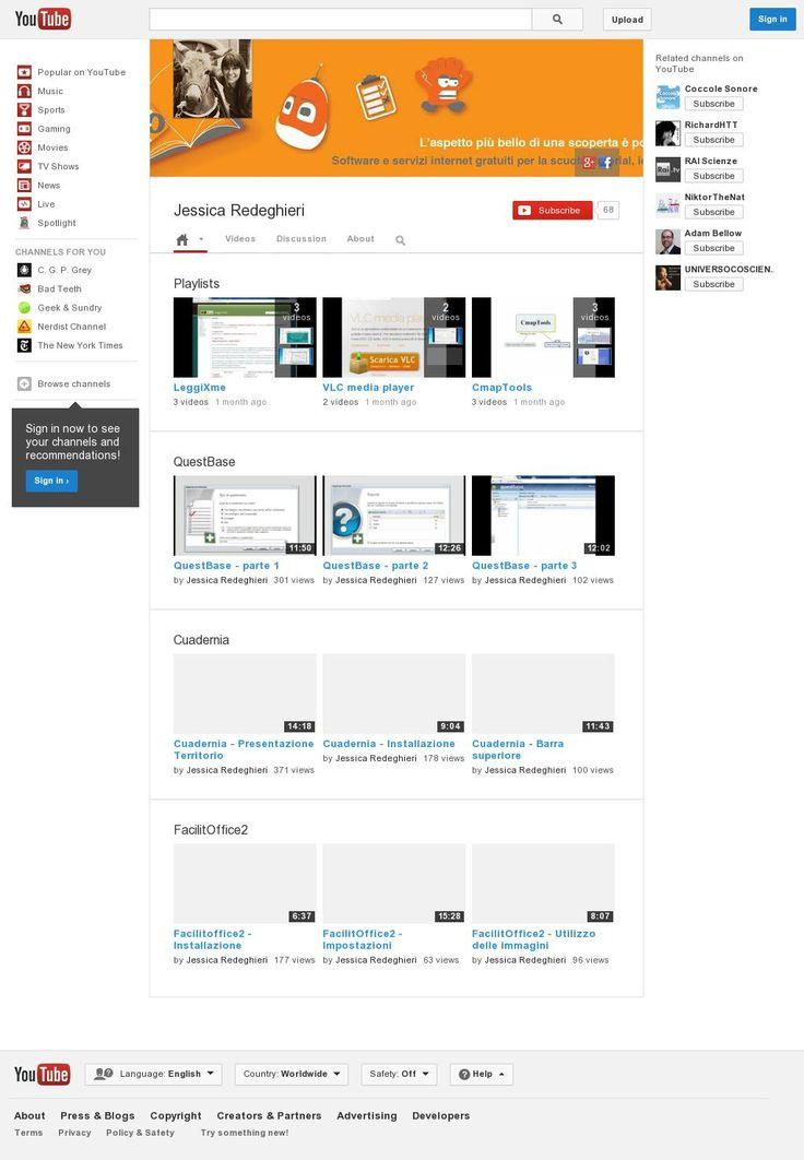 Software e servizi internet gratuiti per la scuola: tutorial, idee e suggerimenti 'https://www.youtube.com/user/jessicaredeghieri' courtesy of @Pinstamatic (http://pinstamatic.com)
