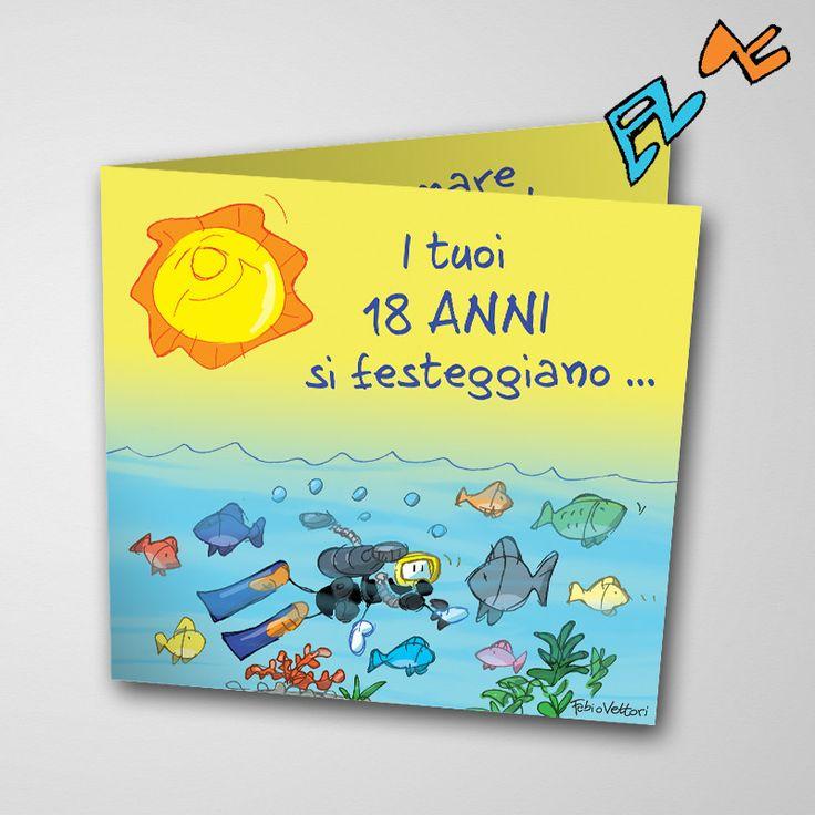 Biglietto musicale 18 anni (FV07-01) | Le Formiche di Fabio Vettori #formiche #fabiovettori #biglietto #auguri #musica #music #fun #regalo #gift #18anni #mare