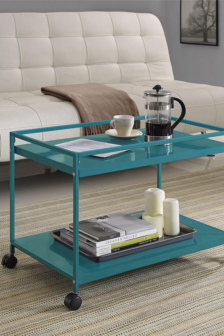 marshall 2 shelf rolling coffee table cart product lust. Black Bedroom Furniture Sets. Home Design Ideas