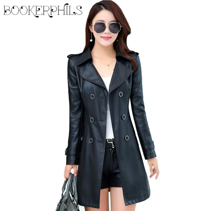 Double Breasted Medium-Long Leather Jacket Women 2016 New Autumn Plus Size 4XL Black/Red Women's Leather Coat -  Buy online Double Breasted Medium-Long Leather Jacket Women 2016 New Autumn Plus Size 4XL Black/Red Women's Leather Coat only US $69.98 US $41.99. This Online shop give you the best deals of finest and low cost which integrated super save shipping for Double Breasted Medium-Long Leather Jacket Women 2016 New Autumn Plus Size 4XL Black/Red Women's Leather Coat or any product…