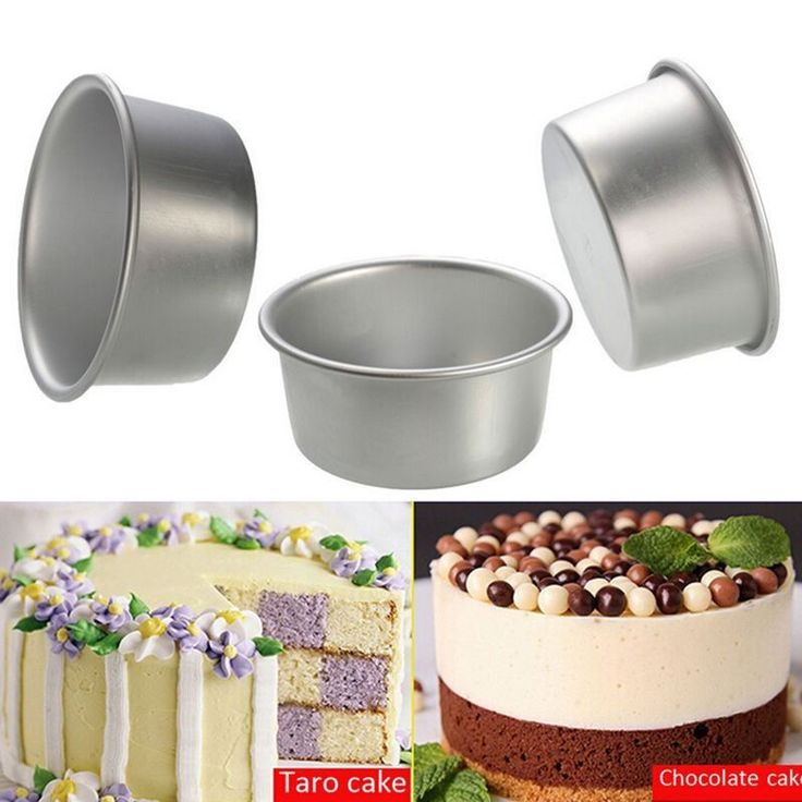 """New 4"""" 5"""" 6"""" Aluminum Round Cake Pan Bakeware Tool #T #Unbranded"""
