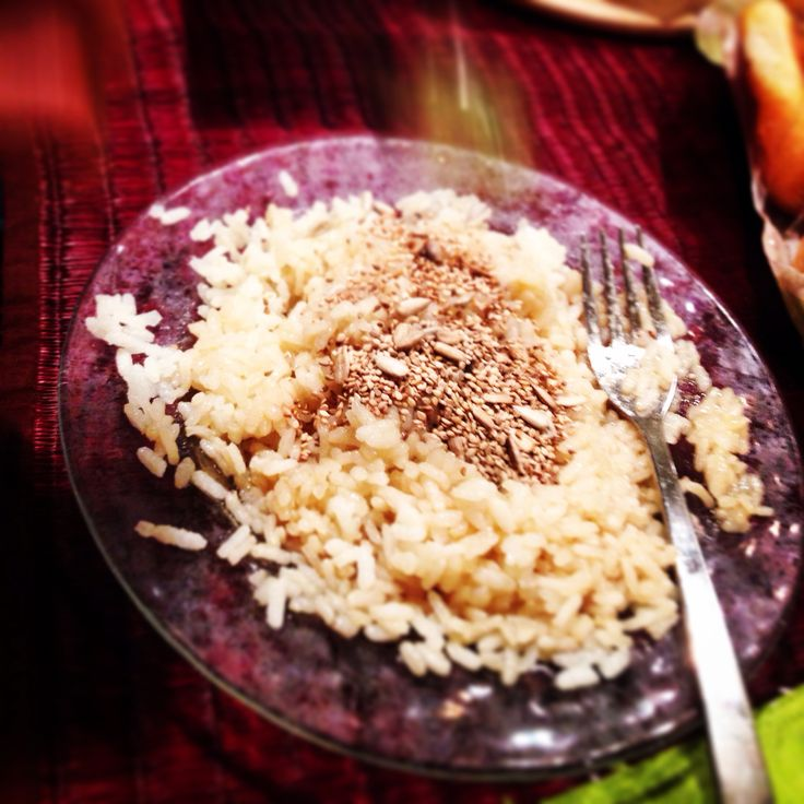 Rice with sesam and soya souce