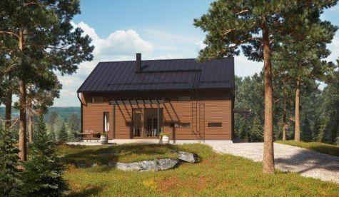 Katso Kastelli Kaarna 147/169 ja yli tuhat muuta talomallia Meillä kotonan Talohausta.