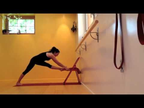 standing poses with foot supported on chair to intensify