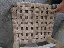 Resultado de imagem para rempaillage chaise avec tissu